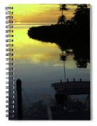 Dusky At Sunset, And A Palm Tree Spiral Notebook