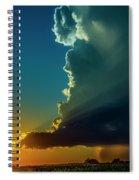Dying Nebraska Thunderstorms At Sunset 068 Spiral Notebook