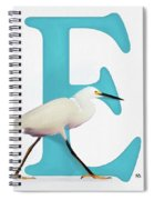 E Is For Egret Spiral Notebook