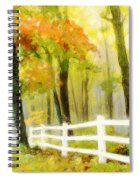 Early Autumn Morning Spiral Notebook