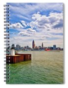 East Pierhead Lighthouse View Of Cleveland Spiral Notebook