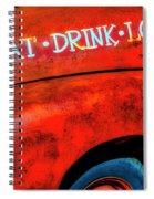 Eat Drink Love Rusty Truck Spiral Notebook