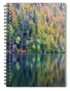 Echo Lake Autumn Shore Spiral Notebook