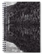 Echo Lake Reflection Black And White Spiral Notebook