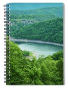 Edersee Lake Surrounded With Forest Spiral Notebook