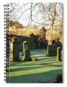 Edinburgh Castle From Blackfriars In Winter Spiral Notebook