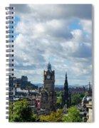 Edinburgh Castle From Calton Hill Spiral Notebook