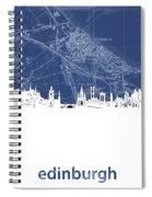 Edinburgh Skyline Map Blue Spiral Notebook