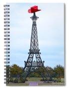 Eiffel Tower In Paris Texas Spiral Notebook