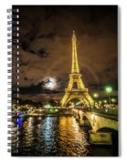 Eiffell Tower At Night After The Storm Passed Spiral Notebook