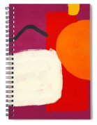 Elation 3- Abstract Art By Linda Woods Spiral Notebook