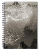 Elegant Coastal Splash Bermuda Spiral Notebook