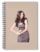 Elegant High Fashion Model In Autumn Clothes Spiral Notebook