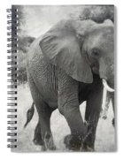 Elephant And Babies Spiral Notebook
