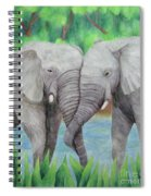 Elephant Couple Spiral Notebook