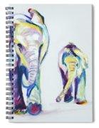 Elephants Side By Side Spiral Notebook
