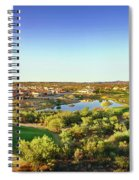 Elevated View Of Golf Course, Sun City Spiral Notebook