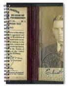 Eliot Ness Treasury Id Spiral Notebook