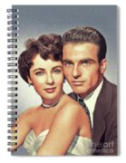 Elizabeth Taylor And Montgomery Clift, Hollywood Legends Spiral Notebook
