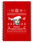 Elon Musk Merry Christmusk Spiral Notebook