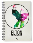 Elton Watercolor Poster Spiral Notebook