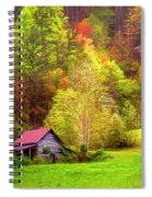 Embraced In Autumn Color Painting Spiral Notebook