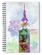 Empire State Building Colorful Watercolor Spiral Notebook