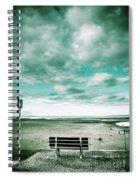 Empty Beach Bench Spiral Notebook