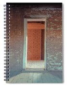 Empty Old Brick House Grafton Ghost Town Spiral Notebook