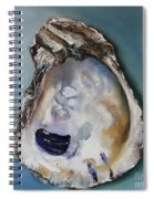 Empty Oyster Shell Spiral Notebook