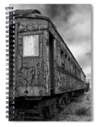 End Of The Line Bw Spiral Notebook