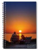 Enjoying The Sunset Spiral Notebook