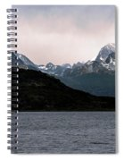 View Over Ensenada Bay Of High Peaks In Tierra Del Fuego National Park, Ushuaia, Argentina Spiral Notebook