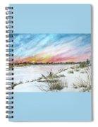 Ephemeral Sunset Spiral Notebook