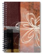 Espresso Flower 1-  Art By Linda Woods Spiral Notebook