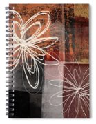 Espresso Flower 2- Art By Linda Woods Spiral Notebook