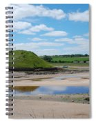 estuary on river Aln at Alnmouth Spiral Notebook