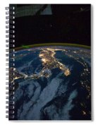 Italy From Space At Night Spiral Notebook