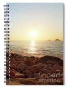 Evening Glow At Porth Nanven Spiral Notebook
