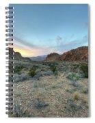 Evening In The Desert Spiral Notebook