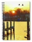 Evening Light Bidding Goodnight Spiral Notebook