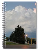 Evening Lightning Storm Illuminates The Sky Spiral Notebook