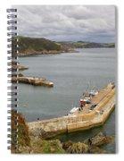 Evening Over Mevagissey Harbour  Spiral Notebook