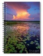 Evening Shower Spiral Notebook