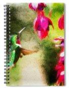 Eye On The Fuchsia Spiral Notebook