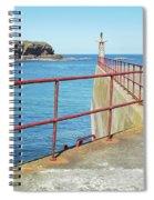 Eyemouth Harbour Pier Entrance Spiral Notebook