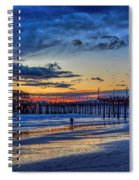 Fading To The Blue Hour - Ferris Wheel Spiral Notebook