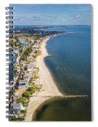 Fairfield Beach Connecticut Aerial Spiral Notebook