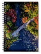 Fall Aerial With Bridge Spiral Notebook