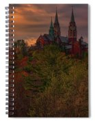 Fall Clouds Over Holy Hill Spiral Notebook